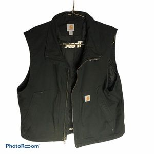 CARHARTT black  zip up big zip up pockets vest